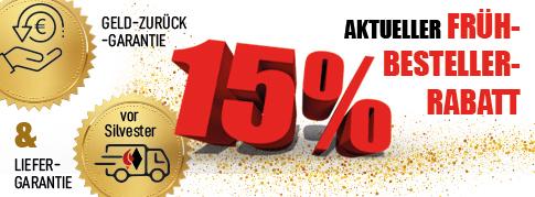 Aktueller Frühbestellerrabatt: 15%