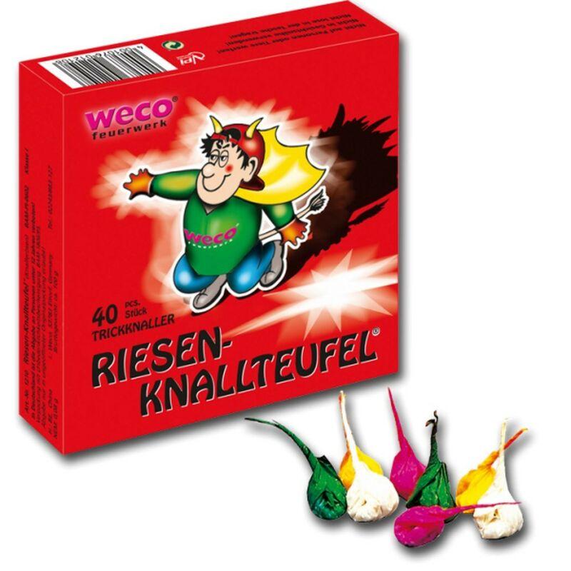 Riesen-Knallteufel Der bekannteste Kinderknaller in der XXL-Version. 1 Schachtel á 40 Stück.
