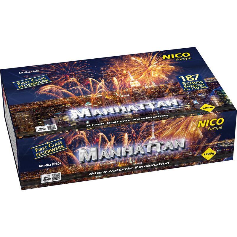 Manhattan 187-Schuss-Feuerwerkverbund