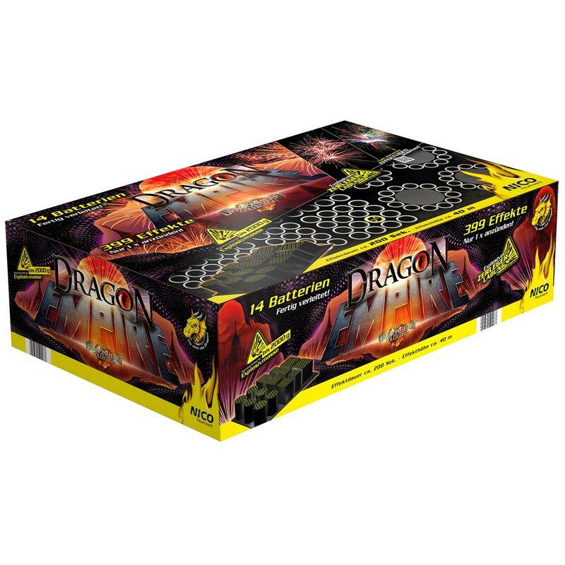 Dragon Empire 399-Schuss-Feuerwerkverbund