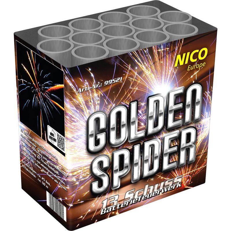 Golden Spider 13-Schuss-Feuerwerk-Batterie