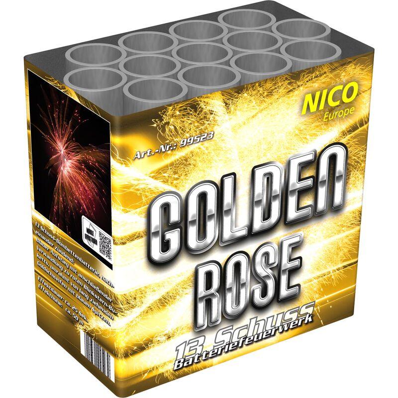 Golden Rose 13-Schuss-Feuerwerk-Batterie