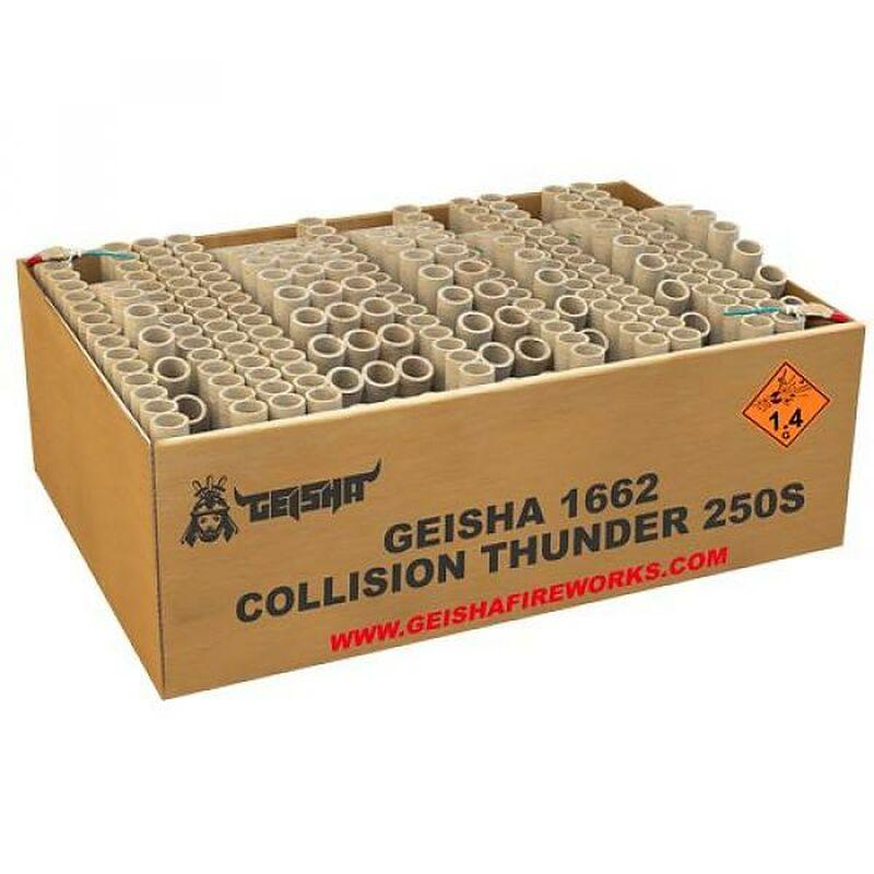 Collision Thunder 250-Schuss-Feuerwerkverbund