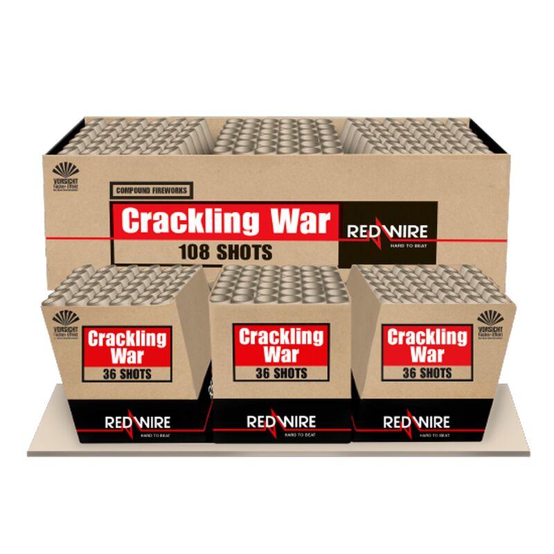 Crackling War 108-Schuss-Feuerwerkverbund (Stahlk�fig)