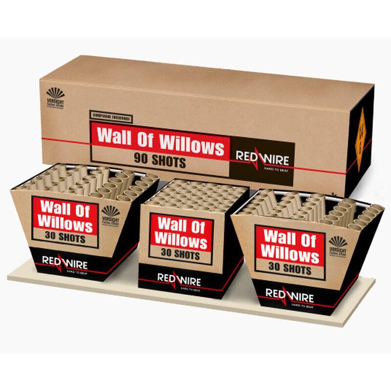 Wall of Willows 90-Schuss-Feuerwerkverbund (Stahlk�fig)