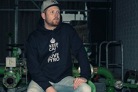 "Hoodie ""Keep calm and love pyro"""
