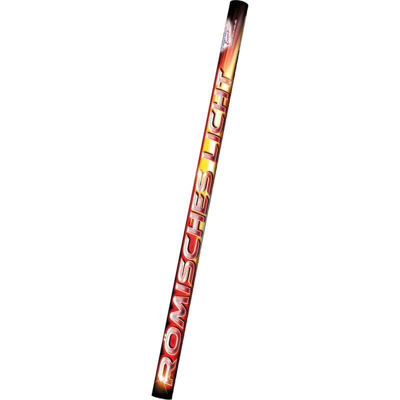 Römisches Licht rot 8-Schuss 8 nacheinander aufsteigende mächtige Leuchtkometen in roter Farbe.