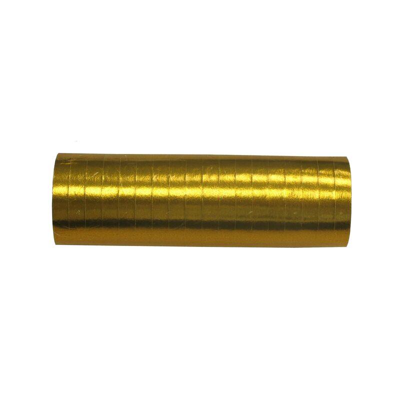 Luftschlangen Gold Luftschlangen in gold 1 Rolle