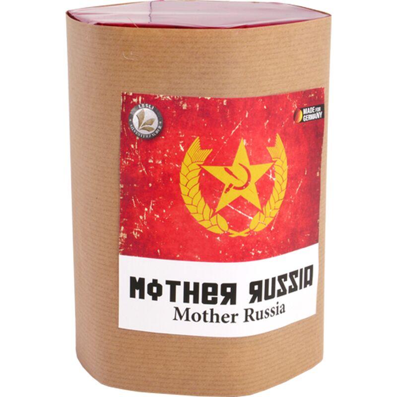 Mother Russia 7-Schuss-Feuerwerk-Batterie Diese Batterie ist nichts für schwache Gemüter und Personen mit Herzleiden! Bitte informieren Sie Ihr Publikum bevor Sie diese Batterie zünden!