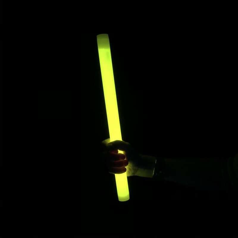 MonsterKNIXS 1 Stk. Gelb 36,5 x 2,3cm Starke Leuchtkraft. Für Party, Konzert, Deko, Jonglieren oder als Lichtschwert - Riesen-Knicklichter sind der Hingucker!