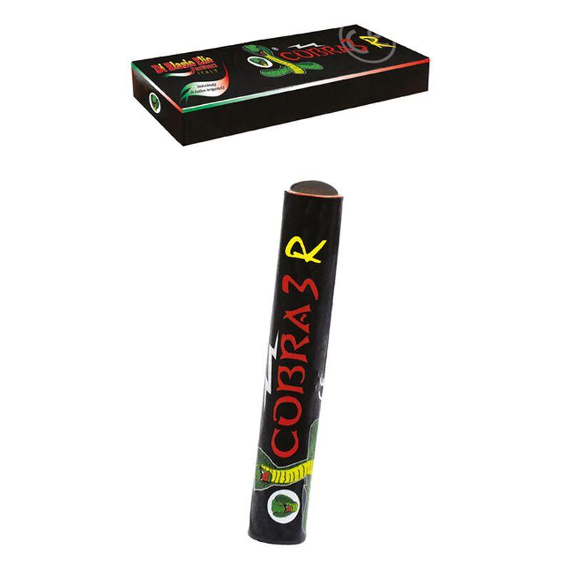 Cobra 3 R Die Cobra 3 R haben pro Stück 4g Schwarzpulver. Mit Reibkopf! 3 Stück je Schachtel. Vollständig in Italien hergestellt.