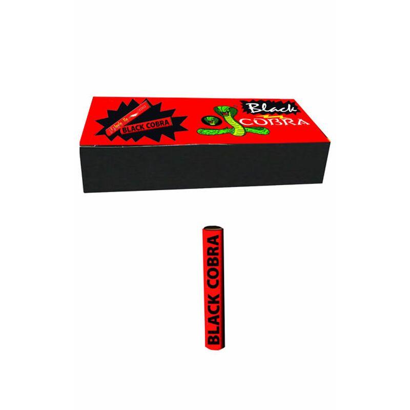 Black Cobra Reibkopfknaller mit 1,5g Schwarzpulver und hochwertigem Reibkopf. 50 Stück je Schachtel. Vollständig in Italien hergestellt.