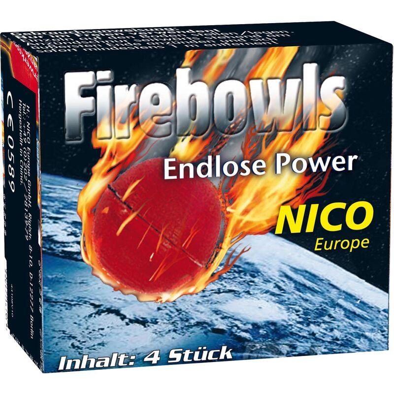 Firebowls - Knatterbälle Knatterbälle mit laut knisternden Silberfunken. 1 Pack á 4 Stück.
