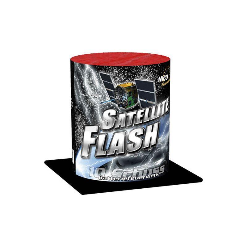 Satellite Flash 10-Schuss-Feuerwerk-Batterie