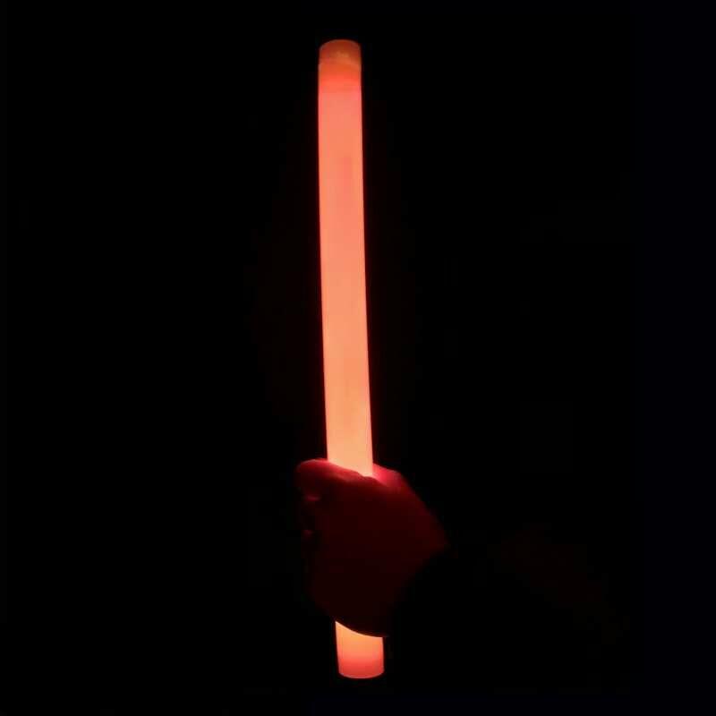 MonsterKNIXS 1 Stk. Orange 36,5 x 2,3cm Starke Leuchtkraft. Für Party, Konzert, Deko, Jonglieren oder als Lichtschwert - Riesen-Knicklichter sind der Hingucker!
