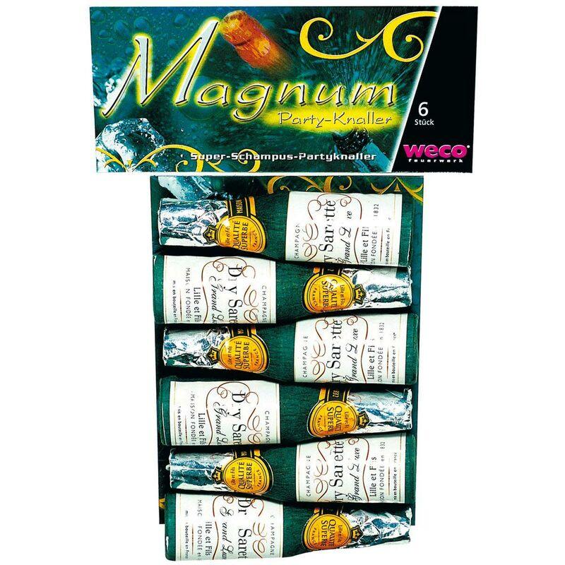 Magnum Party-Knaller Große Magnum-Ziehknaller in der attraktiven Schampusflaschen-Form. Mit buntem Konfetti. Der Party-Hit - nicht nur zu Silvester!