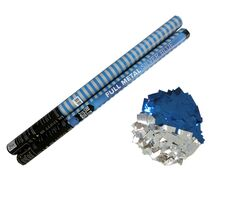 Full Metal Silver/Blue 80cm Metallicflitter silber-blau