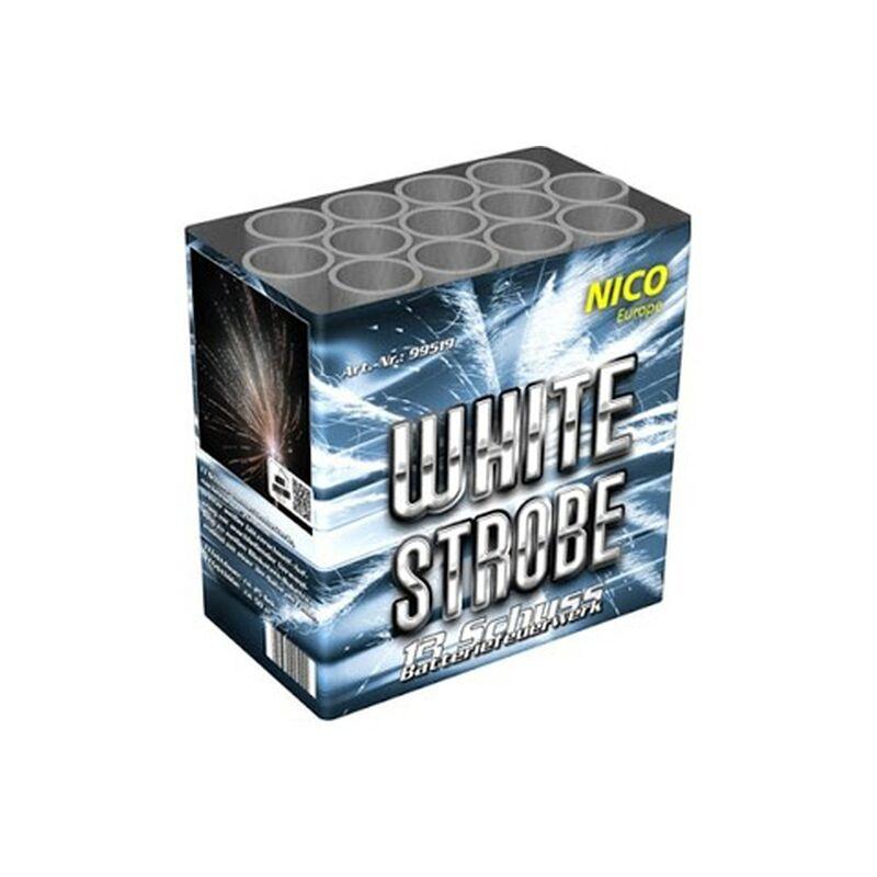White Strobe 13-Schuss-Feuerwerk-Batterie