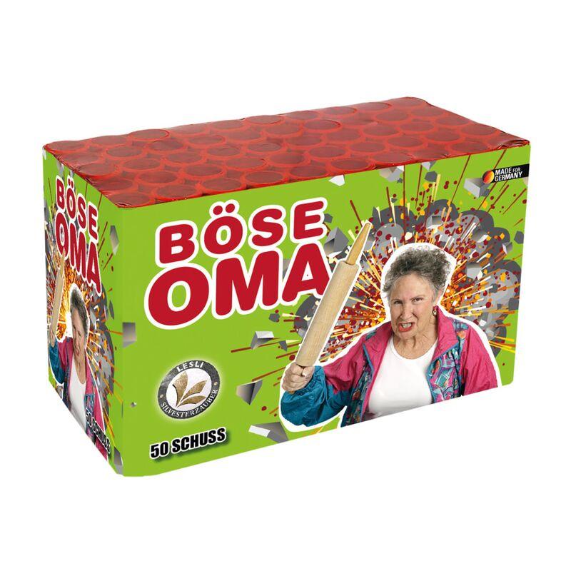 B�se Oma 50-Schuss-Feuerwerk-Batterie
