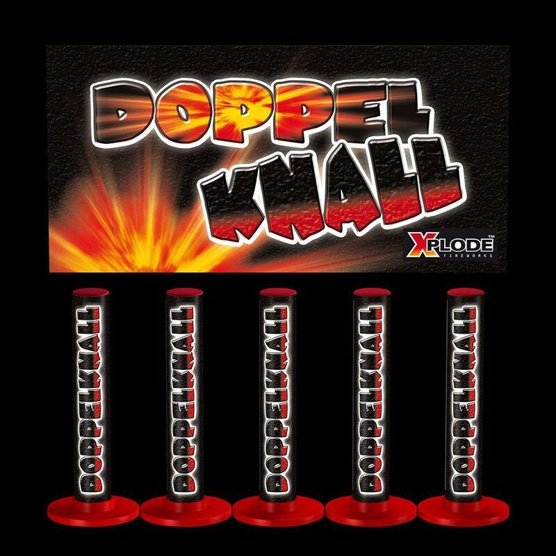 Xplode Doppelknall Doppelter lauter Schwarzpulver-Knall, am Boden und in der Luft. 1 packung � 5 St�ck