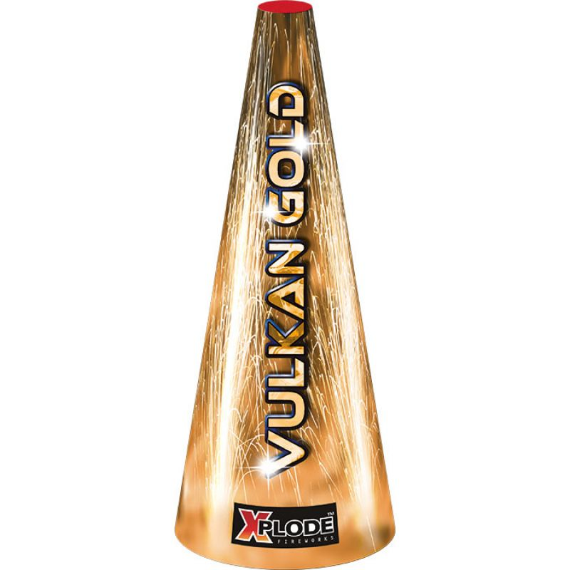 Vulkan Gold Imposanter großer Vulkan in der Variante gold.