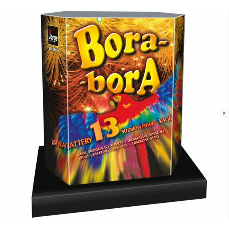 Bora Bora 13-Schuss-Feuerwerk-Batterie Cracklingkometen zu Cracklingsternen.