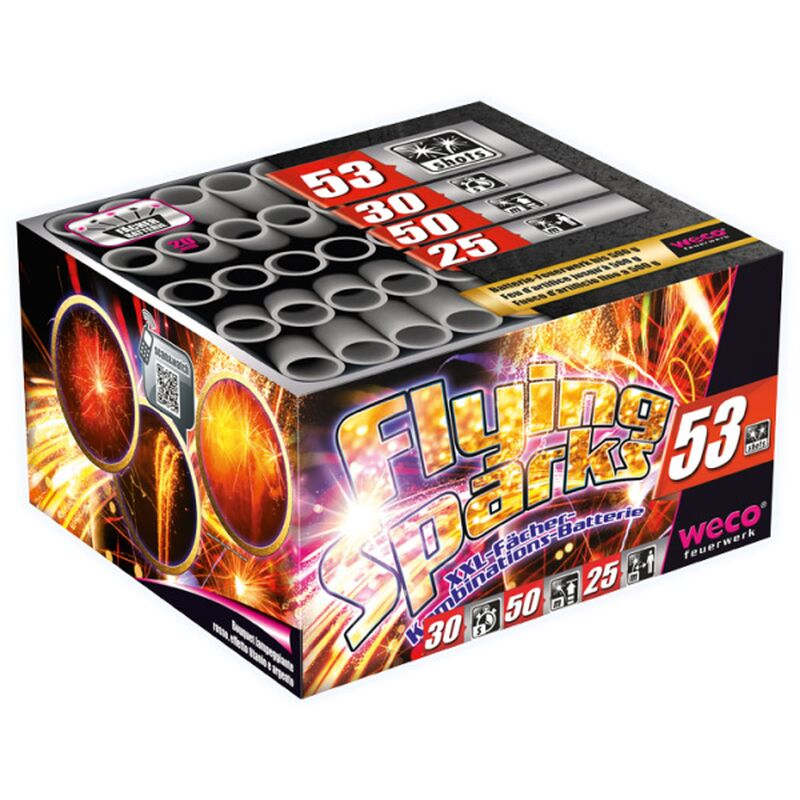 Flying Sparks 53-Schuss-XXL-F�cher-Kombinations-Batterie