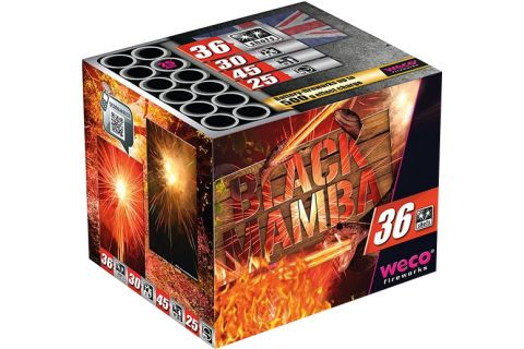 Black Mamba 36-Schuss-XXL-Multi-Colour-Glitter-Batterie
