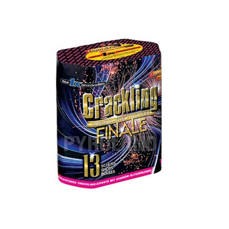 Crackling Finale 13-Schuss-Feuerwerk-Batterie Mit großkalibrigen Abschüssen und fetzigem Bukett mit großkalibrigen Abschüssen und fetzigem Bukett aus Crackling-Sternen - immer mit kräftigem Knall