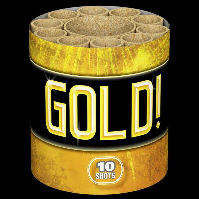 Gold! 10-Schuss-Feuerwerk-Batterie