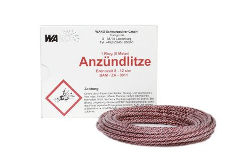 Anzündlitze rot, 8-12s/m, 8m Rolle
