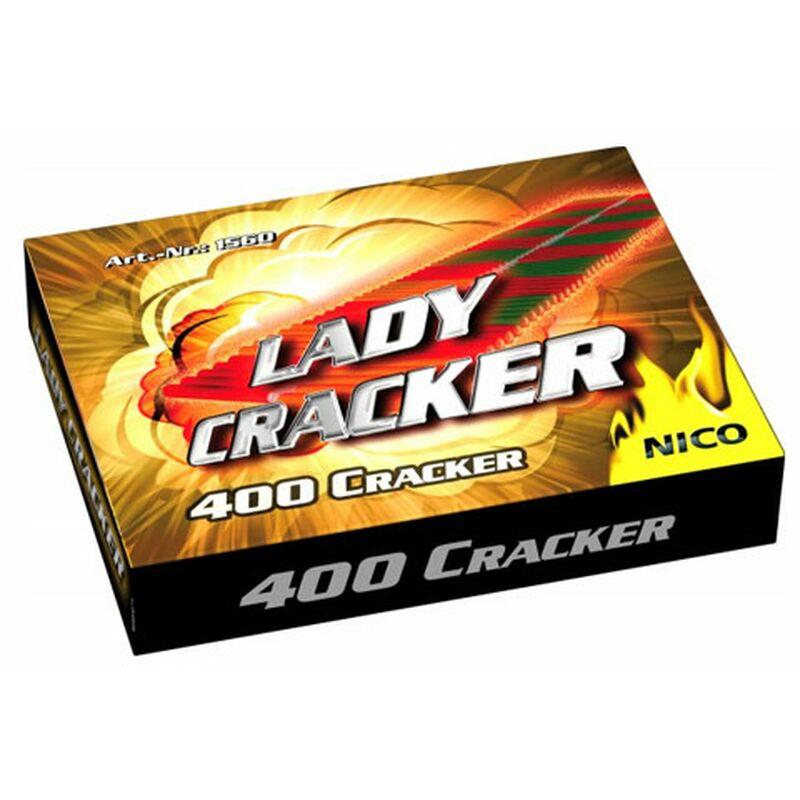 Lady-Cracker, 400er 400 Cracker 400 Cracker, gebunden zu 10 Knallketten.