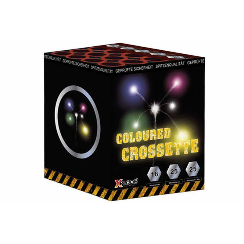 Coloured Crossette 16-Schuss-Feuerwerk-Batterie Farbige leise Crossette Sterne.