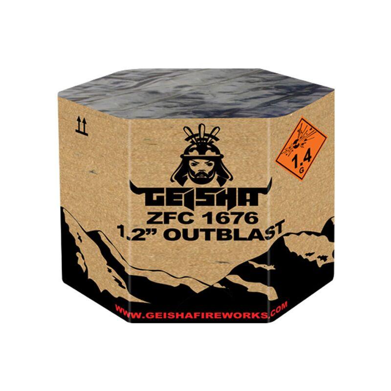 Outblast 2.0 61-Schuss-Feuerwerk-Batterie Das Original Outblast ist zurück! Bereiten Sie sich auf diese begehrte Salvenbatterie mit breiten Effekten und einem harten Ausbruch vor! Ein Muss für jeden echten Feuerwerksliebhaber!