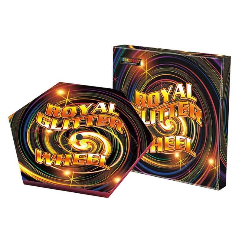 Royal Glitter Wheel Große Sonne mit verschiedenen farbenprächtigen Effekten.