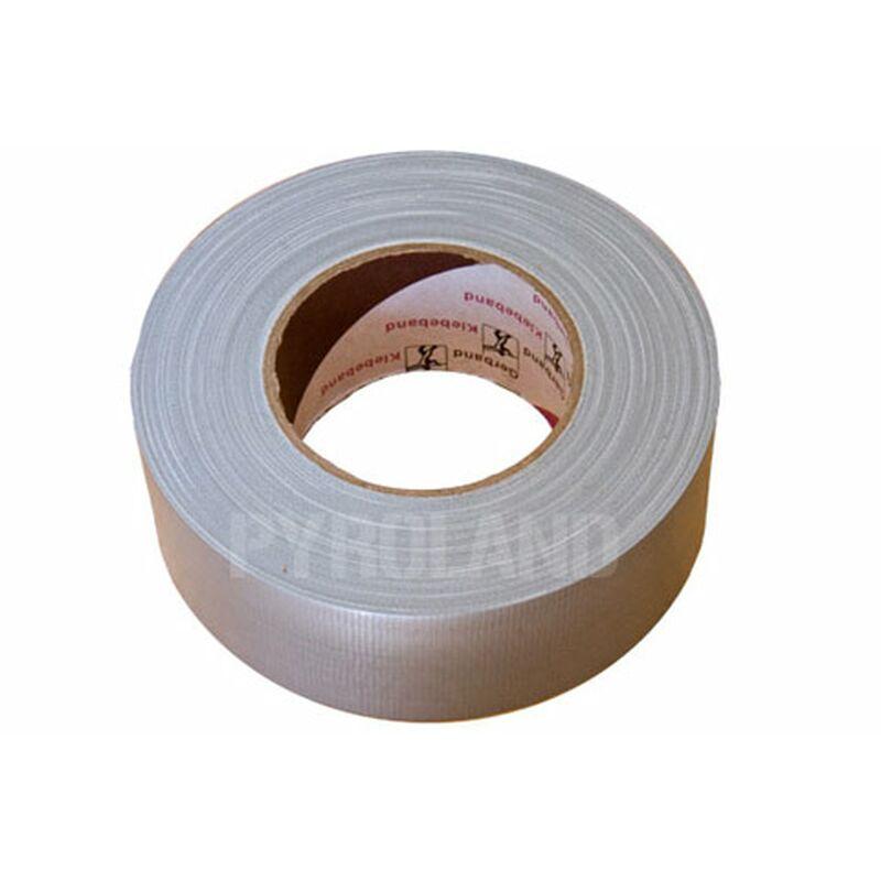Gewebeband, Gaffa Tape (silber) Hoch belastbar, leicht in Querrichtung mit der Hand abzureißen, hinterlässt keine Kleberückstände. Breite: 5cm Länge 50m