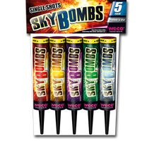 Sky Bombs 5-teiliges Single Shot Sortiment