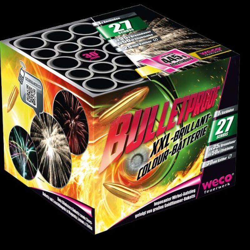 Bulletproof 27-Schuss-Feuerwerk-Batterie