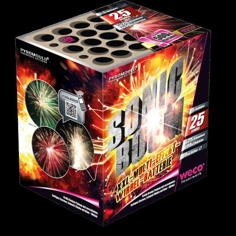 Sonic Boom 25-Schuss-Feuerwerkbatterie
