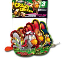 Crazy Chicken Eier legende Henne, 3er